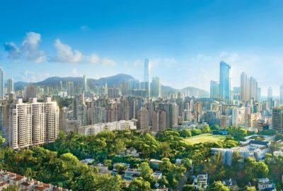 RAMSA設計的聖喬治大廈在香港鬱鬱蔥蔥的Kadoorie Hill街區一覽無餘